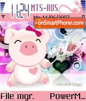 Cute Piggy es el tema de pantalla