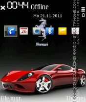 Ferrari 609 theme screenshot