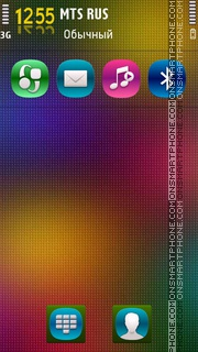 Rainbow 11 theme screenshot
