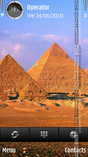 Pyramids theme screenshot
