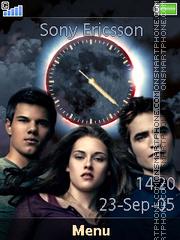 Capture d'écran Twilight Eclipse Clock thème
