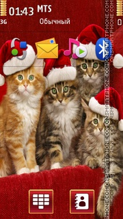 Christmas Cats 01 Theme-Screenshot
