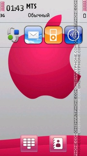 Apple Pink theme screenshot