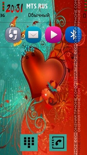 Abstract Heart 02 theme screenshot