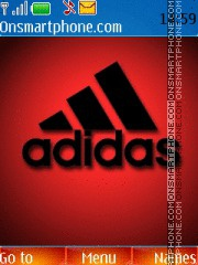 Adidas Red 01 theme screenshot