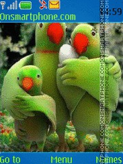 Parrot Family theme screenshot