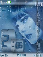 Sad Girl Clock theme screenshot