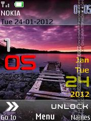 Iphone 5 Sunset theme screenshot