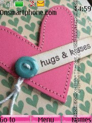 Hugs and Kisses tema screenshot