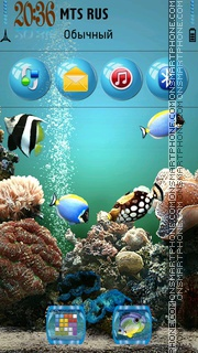 Aquarium 08 theme screenshot