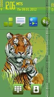 Safari and Tigers tema screenshot