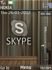 Skype Clock theme screenshot