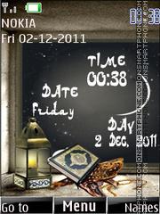 Islamic Clock theme screenshot