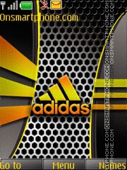 Golden Adidas theme screenshot