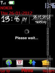Black Clock 06 theme screenshot