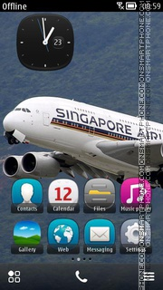 Скриншот темы Singapore Airlines Aircraft