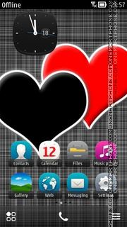 Two Hearts 04 theme screenshot