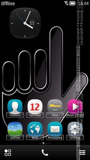 Hand Sign tema screenshot