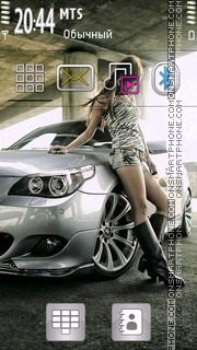 Bmw Girl 01 theme screenshot