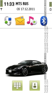 Nissan GTR 15 theme screenshot