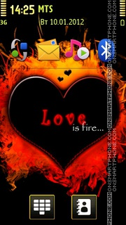 Love Is Fire theme screenshot