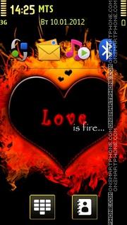 Love Is Fire es el tema de pantalla