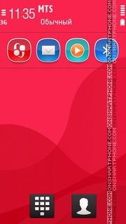 Next Crimson Mini theme screenshot