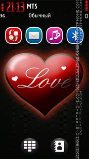 Love Red 01 theme screenshot