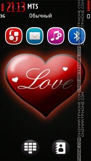 Capture d'écran Love Red 01 thème