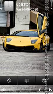Скриншот темы Lamborghini