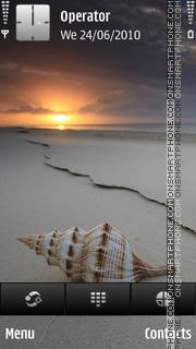 Sea shell theme screenshot