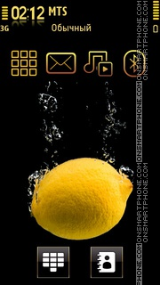 Скриншот темы Yellow N Black