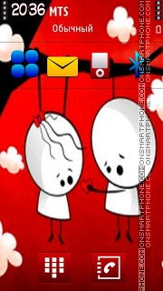 Скриншот темы Be Mine 03