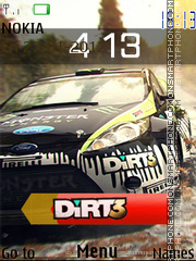 Dirt 3 theme screenshot