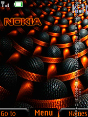 Orange Nokia Logo theme screenshot