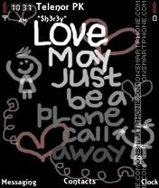 Call Love theme screenshot