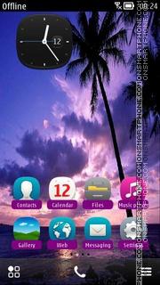 Purple Tropic theme screenshot