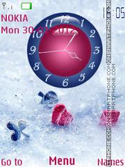 Card Game Clock 01 theme screenshot