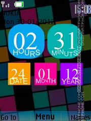 Abstract Clock 03 tema screenshot