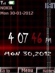 Valentine Clock 01 theme screenshot