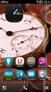 Time Is Money es el tema de pantalla