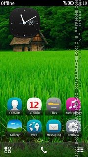 House In Fields Of Green theme screenshot