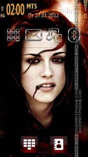 Vampire Girl Bella es el tema de pantalla