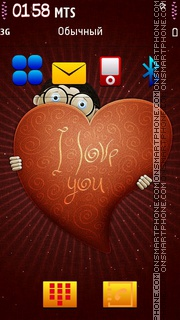 I love you 05 es el tema de pantalla
