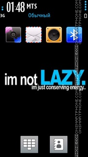 Not Lazy theme screenshot