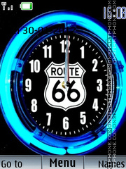 Скриншот темы Route 66 Clock