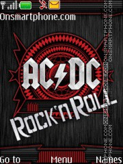 AC/DC - Rock N Roll theme screenshot