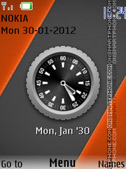 Xperia Nokia Clock theme screenshot