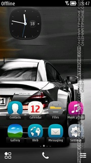 Скриншот темы Mercedes Sl 65 Amg