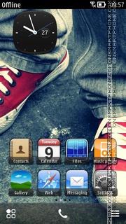 Red Sneakers theme screenshot